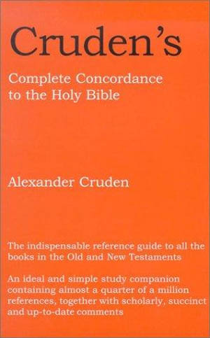 Cruden's Bible Concordance (Paperback)